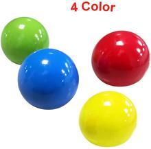 4 pces crianças pegajoso bola de parede descompressão brinquedo bola sucção parede pegajosa criativo descompressão pitada brinquedo presente