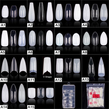 Популярные 100 штук, 200 штук, 500 штук балерины на шпильках, круглые квадратные накладные Типсы для маникюра, накладные ногти