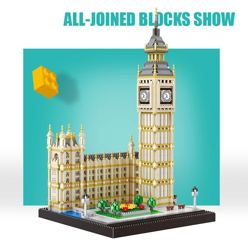 3600 pièces ville Streetview le grand Ben tour créateur Architecture diamant blocs de construction briques modèle ensemble éducatif enfants jouets