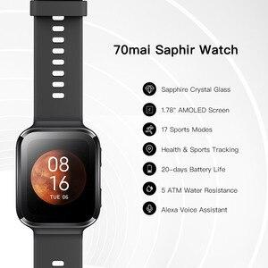 Image 2 - 70mai Horloge Saphir Smarwatch Bluetooth Gps 70mai Horloge Hartslag Tracker 5ATM Waterdichte Herinnering App Kennisgeving