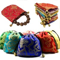 Vintage Auspicious Design Storage Bag For Clothing Shoes Underwear Jewelry Organizer Bag Drawstring Bag x