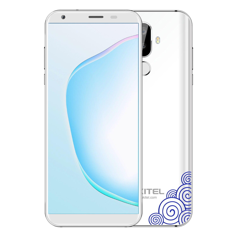 Oukitel K5 18:9 affichage 5.7 ''Android 7.0 2GB RAM 16GB ROM Smartphone Quad Core 13MP 3 caméras 4000mAh téléphone portable à empreinte digitale