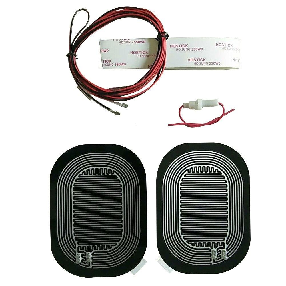 Universal dc 12 v carro espelho elétrico de vidro aquecido almofada esteira defoggers remover geada espelho lateral de vidro calor almofada aquecida 15.6*12cm