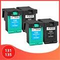 Чернильный картридж для hp 131 135 для hp 131 для hp 135 2573 2613 8753 PSC 1600 1613 2350 460 5743 5940 5943 6940 принтер