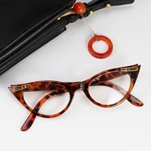 Cat Eyewear Anti-blue light Myopia Lens Women frameless glasses lentes de lectura mujer diopter