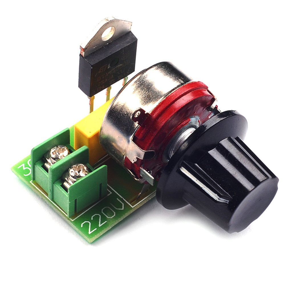 Electronic 2000W Imported Thyristor High Power Dimmer Regulator Speed Control Temperature