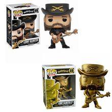 FUNKO POP Rock Motorhead oro Lemmy Kilmister 49 # PVC muñeca de vinilo caliente tema exclusivo juguetes de modelos de colección para niños