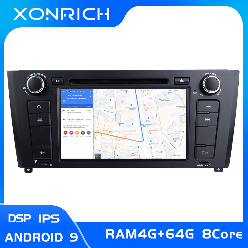 IPS DSP 1 Din <font><b>Android</b></font> <font><b>9.0</b></font> Car Radio DVD Player GPS For <font><b>BMW</b></font> 1 Series E88 <font><b>E87</b></font> E82 E81 I20 Navigation Multimedia Stereo 8Core4+64GB image