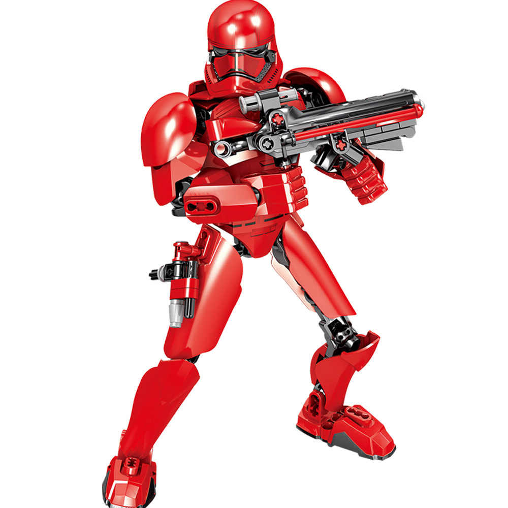 Star Wars can create character building blocks Stormtrooper Red Storm Soldier Kylo Ren Chewbacca Boba Jango Action Character toy