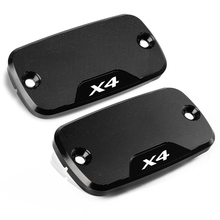 1 pair Motorcycle CNC accessories  Reservoir Brake Cap Power Part Front Cover For Honda X4 X 4 X-4 1998-2004
