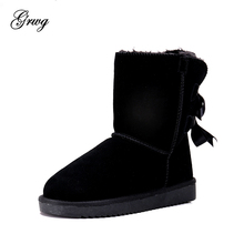 купить GRWG High Quality Australia Classic Lady Shoes Winter Waterproof Genuine Cowhide Leather Women Snow Boots дешево