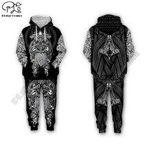 мужчины для женщин Викинг тату 3D все Ове печатных комплект толстовка с капюшоном унисекс уличной хип-хоп костюм косплей костюмы стиль-4