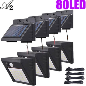 A2 LED Solar Light 40 80LED garden lamp PIR Motion Sensor night light separated for Home outdoor Street Yard Path fence(China)