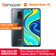 "Global Version  Xiaomi Redmi Note 9S 4GB 64GB Snapdragon 720G Octa core Cell Phone 48MP AI Quad Camera 5020 mAh 6.67"" DotDisplay"