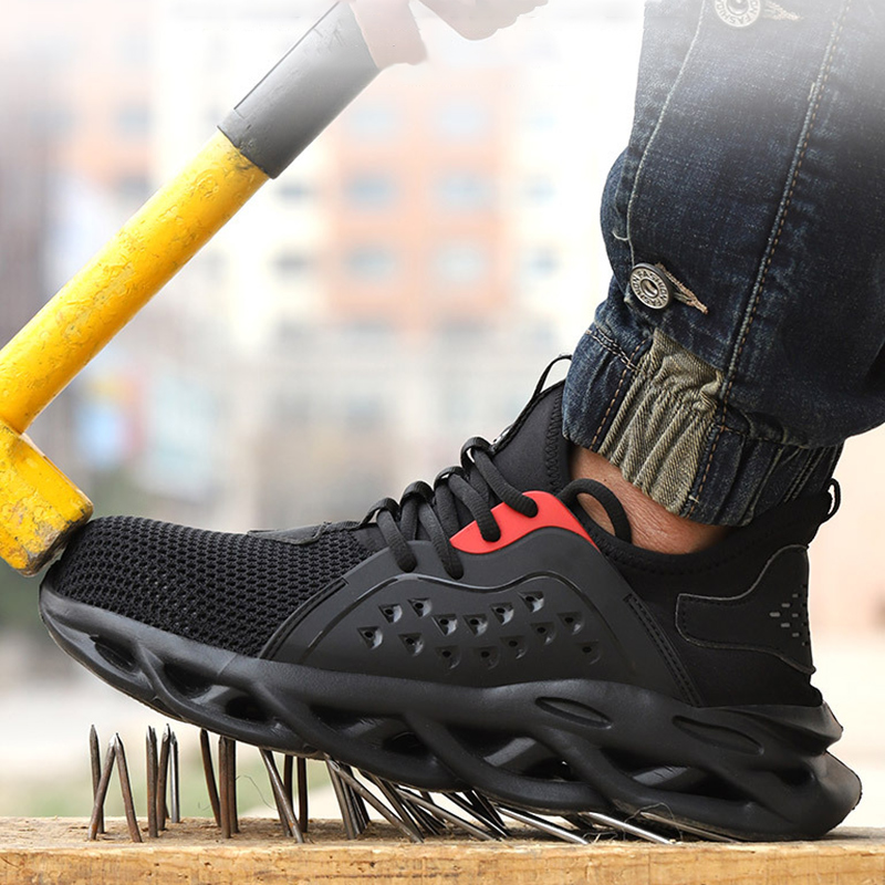 2020 Work Safety Boot For Men Anti-Smashing Construction Safety Shoes Steel Toe Cap Work Shoes Indestructible Safety Sneakers 2