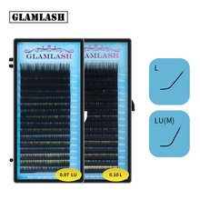 GLAMLASH לערבב 7 ~ 15/15 20/20 25mm בעבודת יד קוריאני pbt L LU הארכת ריסים טבעי רך פו מינק ריסים ריסים להארכה