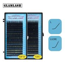 GLAMLASH Mix 7 ~ 15/15 20/20 25mm handmade koreański pbt L LU przedłużanie rzęs naturalne miękkie sztuczne rzęsy z norek rzęsy do przedłużania