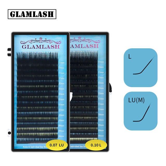 Glamlashミックス7〜15/15 20/20 25ミリメートル手作り韓国pbt l luまつげエクステンション軟質天然のどミンクまつげまつげ延長