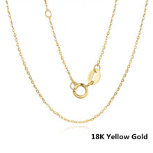 Vojefen 18k amarelo/rosa colar de ouro puro para jóias femininas com au750 gargantilha de corrente de ouro real para presente de festa de jóias finas