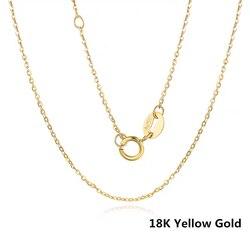 VOJEFEN AU750 bijoux collier en or véritable 18 k collier en or pur pour femmes et hommes, collier en or jaune 18 K et chaîne en or Rose