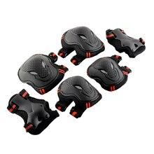6 шт. защитные наколенники для скейтборда синего/красного цвета, Лидер продаж, унисекс, защита на запястье, локоть, велосипедный спорт, для езды на роликах