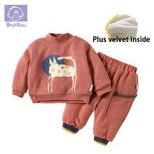 Лучший зимний костюм для малышей новая детская одежда хлопковые