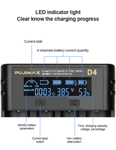 Image 4 - VOXLINK 18650 battery charger LCDscreen show the fast charging 26650 18350 21700 22650 1.2V Li ion Rechargeable Battery charger