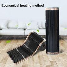 Бесшумные Теплые черные инфракрасные подушечки из углеродного волокна, прочные нагревательные пленки, части для дома, электрические 220 Вт коврик из фольги