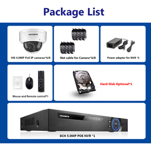 Image 2 - H.265 POE NVR 8CH IP كاميرا 16CH 5MP نظام 8 قطعة 48 فولت سوبر واضح 4MP الأمن قبة IP طقم كاميرا CCTV المراقبة بالفيديو NVR مجموعة