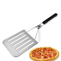 Folding Pizza Shovel Stainless Steel Cake Transfer Spatula Non stick Pizza Paddle Spatula Baking Tools Home Kitchen Accessories