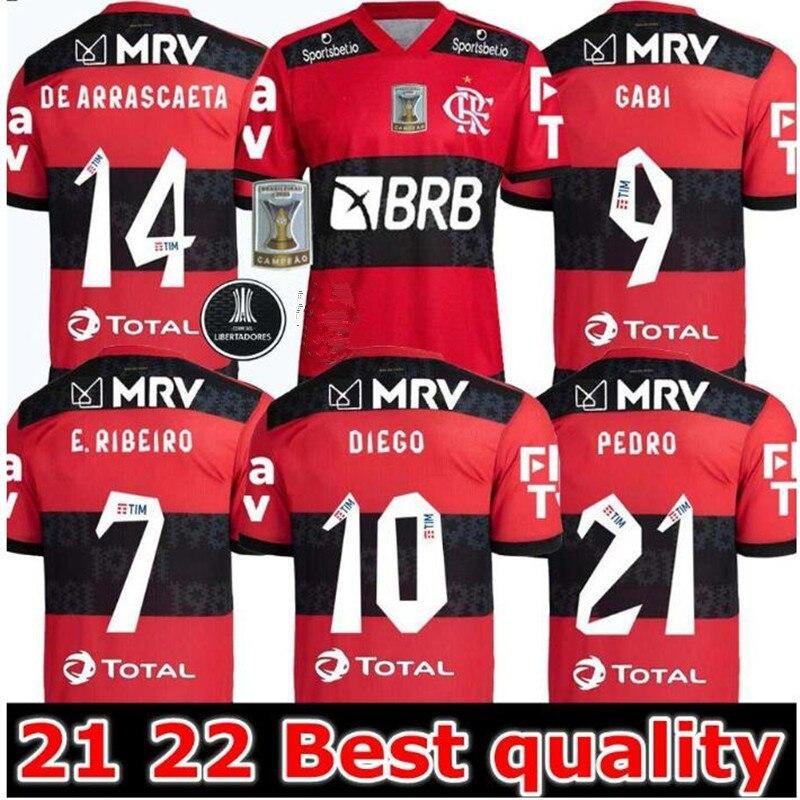 B. Henrique nova camisa adulta 2021/ 2022 e. Ribeiro gerson gabi gabriel b. Diego de arrascaeta pedro flamengo camisa op qualidade