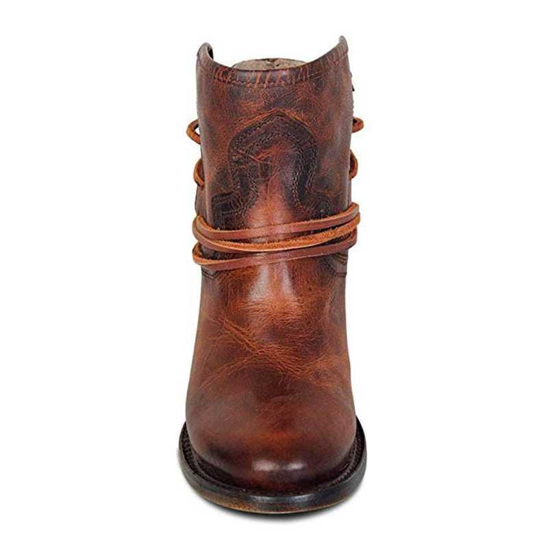 2019 yeni çizmeler kadın deri ayakkabı için kış botu ayakkabı kadın rahat bahar Botas Mujer kadın ayak bileği bayan Botas