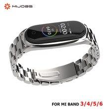 Correa de Metal inoxidable para pulsera inteligente Xiaomi Mi Band 5, 4, 3, 6, NFC