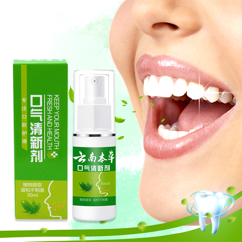 Breath Freshener Mouth Oral Spray Oral Odor Halitosis Treatment Spray Refresher Oral Care Spray Bad Mouth Treatment Herbal 30ML