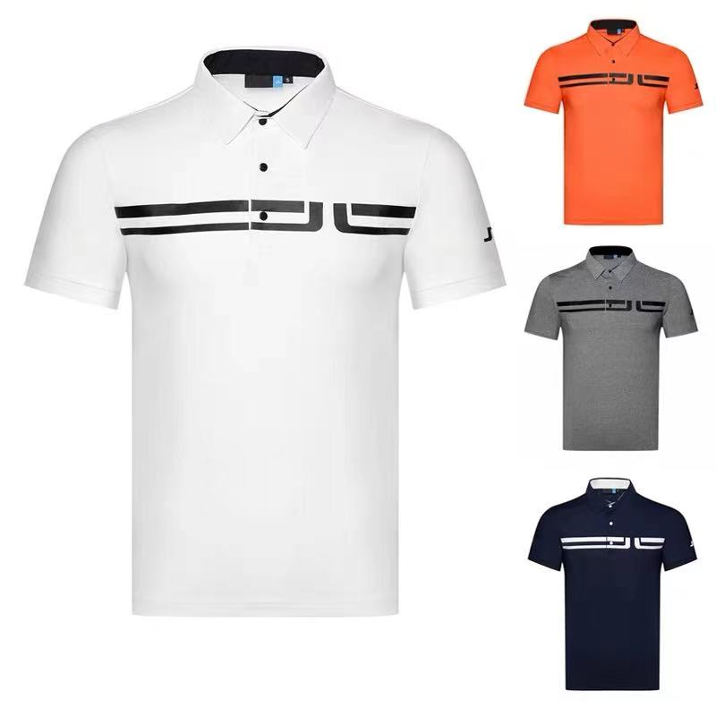 2021 golf men's clothing golf breathable quick-drying outdoor sports short-sleeved T-shirt Polo shirt casual