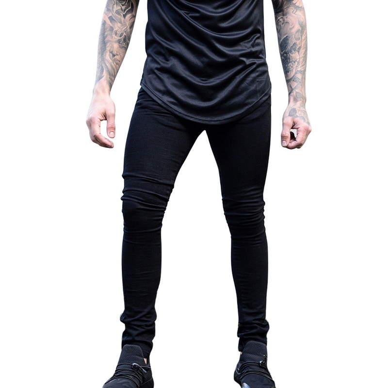 LASPERAL Brand New Men Black Jeans Skinny Stretch Slim Fashion Hip Hop Swag Man Casual Denim Biker Holes Jeans Pants
