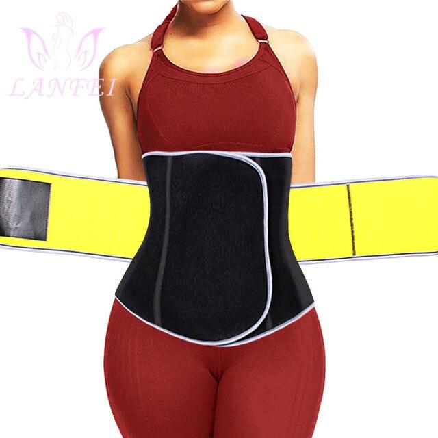 LANFEI Slimming Women Waist Trainer Neoprene Belt Sauna Sweat Body Shaper Tummy Control Cincher Corset Fajas Sport Fitness Strap