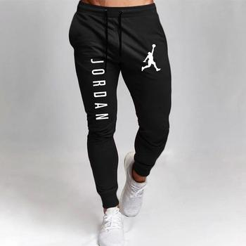 2020 Casual Pants Men Joggers Sweatpants Solid Color Trousers Fitness Sportswear Jogger Track Pant Plus Size S-2XL Summer Spring