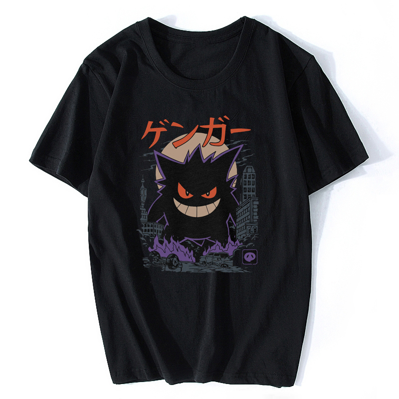 Gengar Kaiju Japan Style Pokemon T Shirt Aesthetic Gothic Men's T-Shirt Cotton Short Sleeve O-Neck Tops Tee Shirts Fashion 2020
