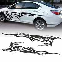 Pair Car Motorcycle Flame Stickers Whole Body Decal Decorative Covers Protector Auto Sticker Accessories Universal