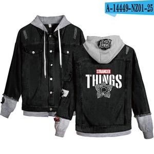 Image 5 - Preferential High Quality Stranger things Hoodies Denim jacket Men/Women sweatshirt Stranger things Boy/Girl Pullovers
