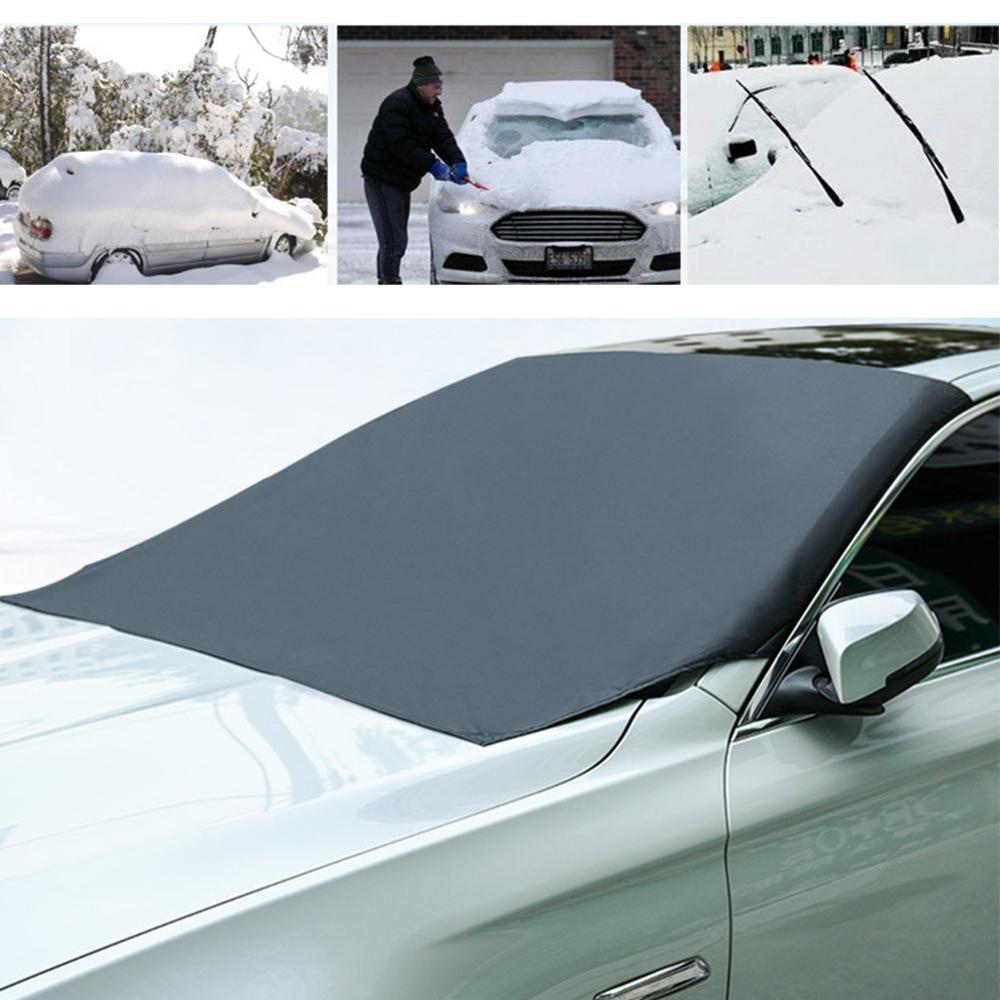 Universal Magnetic รถฝาครอบกระจกรถยนต์น้ำแข็งหิมะบังแดดฤดูหนาว Visor ด้านหน้าฝาครอบกระจก