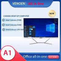 Cámara todo en uno PC Intel Celeron J1900 J1800 J3160, Monitor de 23,8 pulgadas, ordenador de escritorio, teclado inalámbrico, ratón, Windows 10