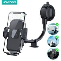 Soporte de teléfono para salpicadero de coche, visor ancho de 360 °, brazo largo Flexible de 9 pulgadas, Universal, manos libres, montaje de teléfono para parabrisas de coche