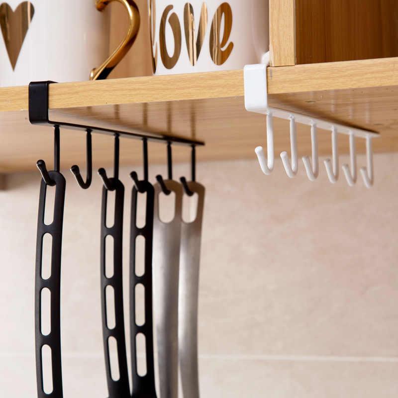 Rolamento mais forte livre de soco prateleira de armazenamento de suspensão do tampão prateleiras de papel ferro de cozinha gancho multifunções-1 peça