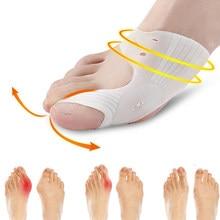 Silicone Gel Hallux Valgus Protector Guard Big Toe Separator Straightener Thumb Bunion Corrector Gel Pad Orthopedic Protector