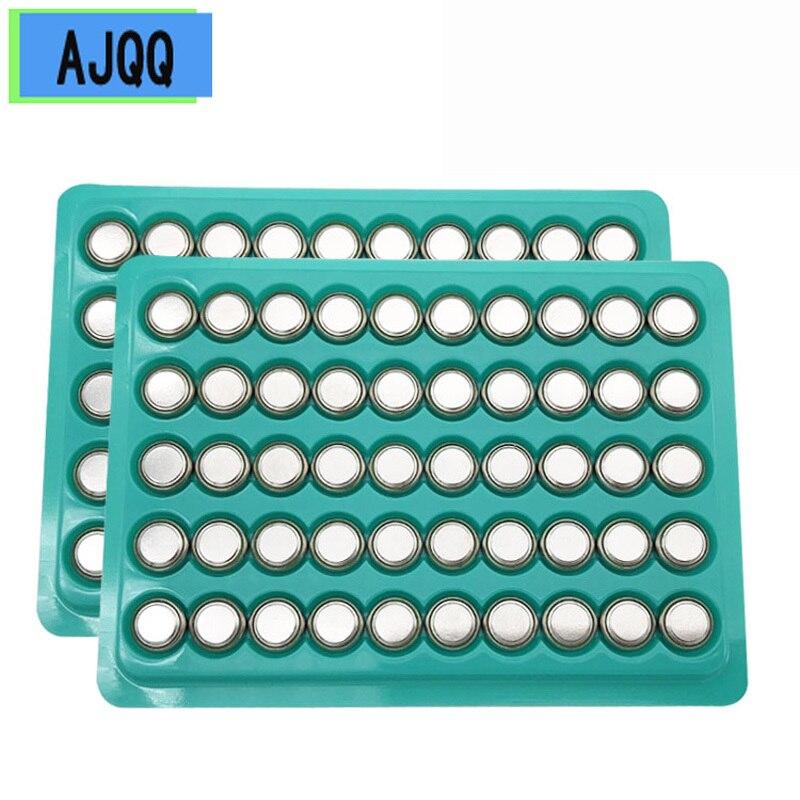 New 100PCS AG10 1.55V Button Battery LR1130 1130 SR1130 389A LR54 L1131 189 389A for Watch Battery