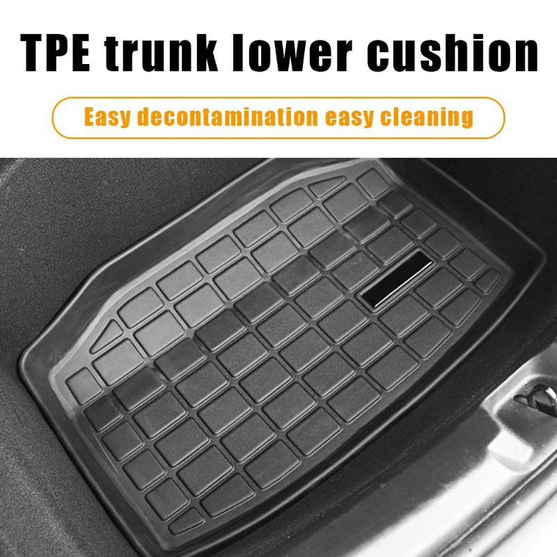 VODOOL TPE Waterproof Rear Cargo Tray Trunk Non-slip Odorless Floor Mat Anti-dust Boot Cargo Liner Protection For Tesla Model 3