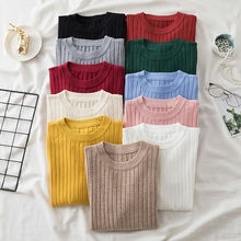 2021 Autumn Winter Knitted Sweater Turtleneck Women O Neck Long Sleeve Solid Basic All-match Pullover Female Clothes Jumper Muje