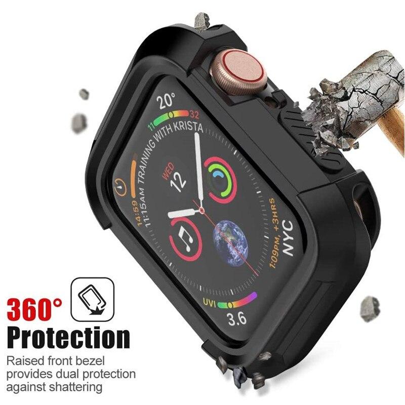 Защитный бампер для Apple Watch SE Series 6, чехол 44 мм 40 мм, Прочный противоударный защитный чехол для Apple Watch 5 4 iWatch 42 мм 38 мм
